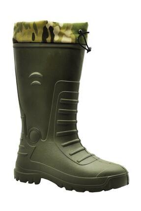 GEZER Erkek Yeşil Avcı Çizme Çıkarılabilir Çoraplı Çizme