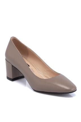 Tergan Kadın Vizon Deri Ayakkabı 65656a44