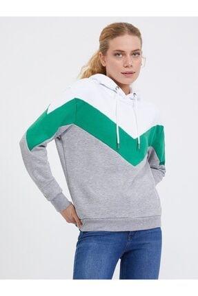 Loft Kadın Gri Melanj Regular Fit Sweatshirt
