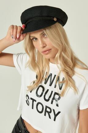 Y-London 13237 Siyah Renkli Denizci Hasır Şapka