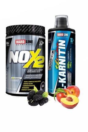 Hardline Ekstra Performans Thermo L-karnitin 1000 mg Şeftali Aromalı + Nox2 Karadut Aromalı