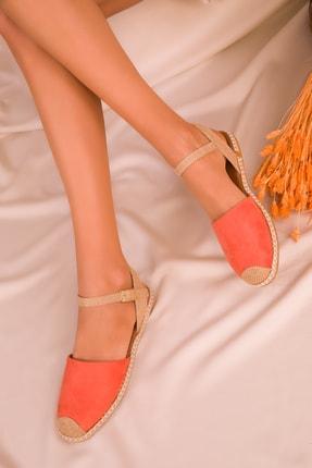 SOHO Turuncu Suet Kadın Sandalet 14790