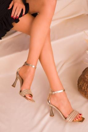 SOHO Altın Kadın Klasik Topuklu Ayakkabı 15927