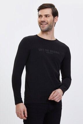 Loft Erkek Siyah Slim Carrot Fit T-shirt Lf2023620
