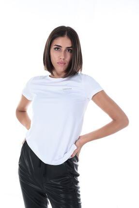 lumberjack BASIC PES C NECK T-SHIRT Beyaz Kadın T-Shirt 100559646