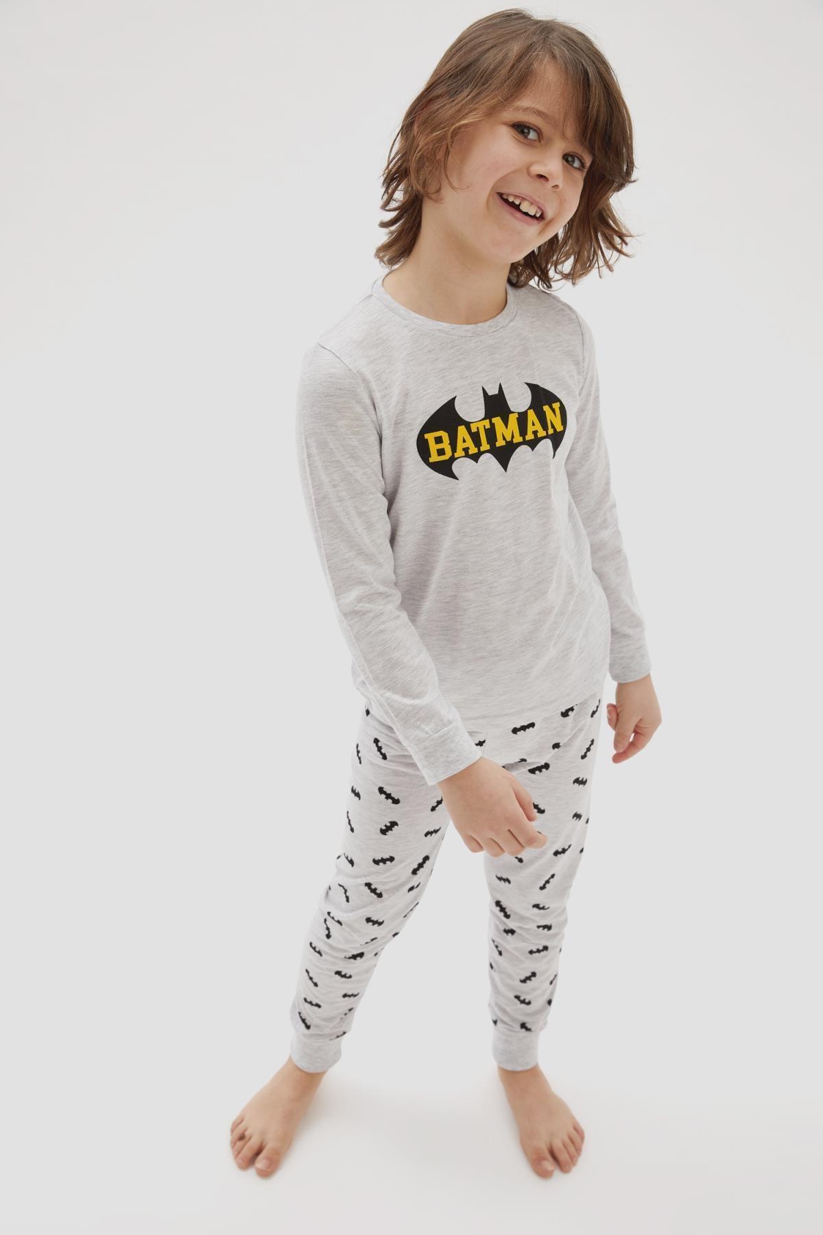 DeFacto Erkek Çocuk Batman Lisanslı Pijama Takımı 1