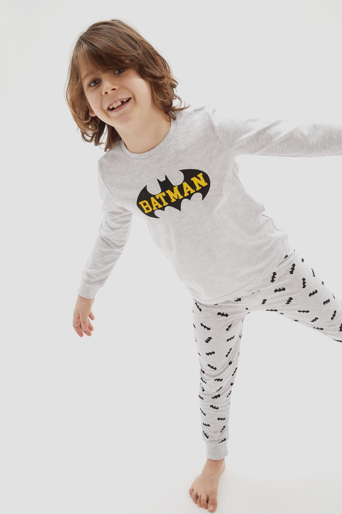 DeFacto Erkek Çocuk Batman Lisanslı Pijama Takımı 2