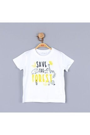 NK Unısex Bebek Beyaz Zürafa Tshirt