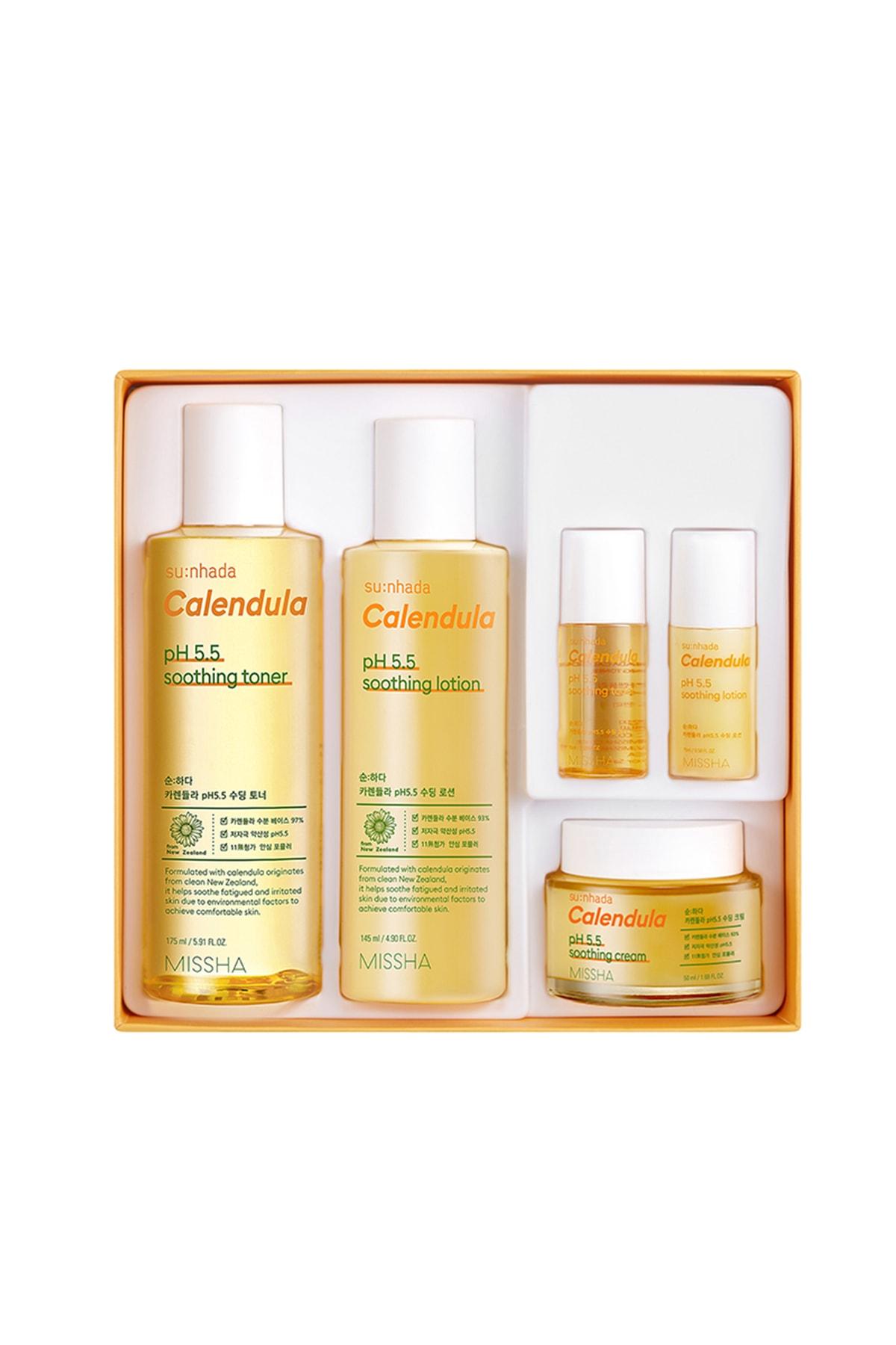 Missha Kalendula Özlü Arındırıcı ve Yatıştırıcı Bakım Seti 2 Su-Nhada Calendula ph 5.5 Soothing Special Set