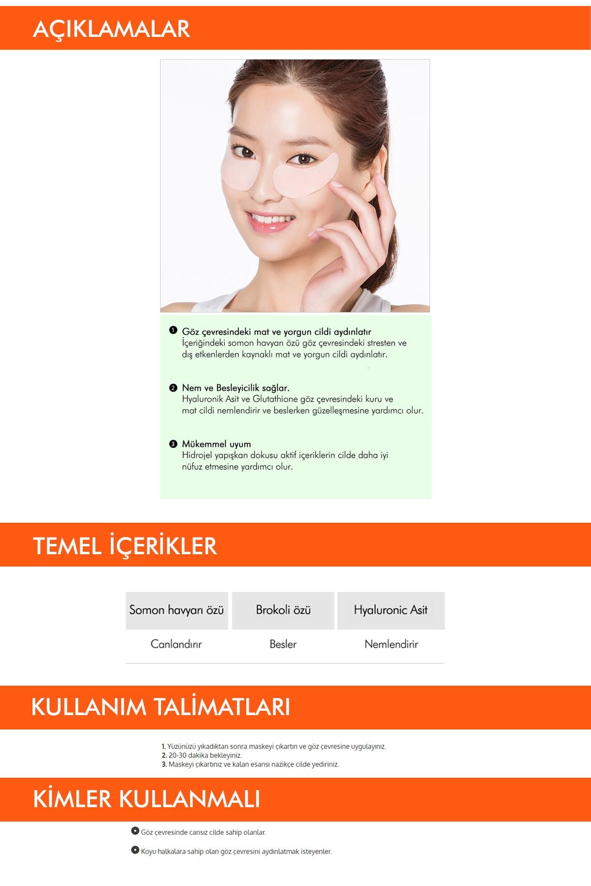 Missha Hyaluronik Asit içerikli Aydınlatıcı Göz Maskesi Speedy Solution Brightening Eye Patch 1