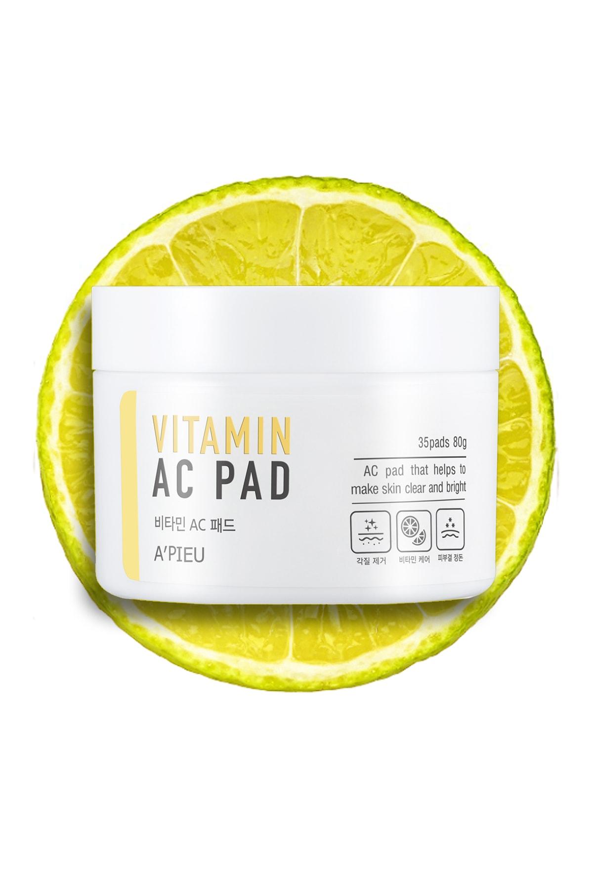 Missha Vitamin İçerikli Canlandırıcı Pürüzsüzleştirici Pamuk Ped (35ad) APIEU Vitamin AC Pad