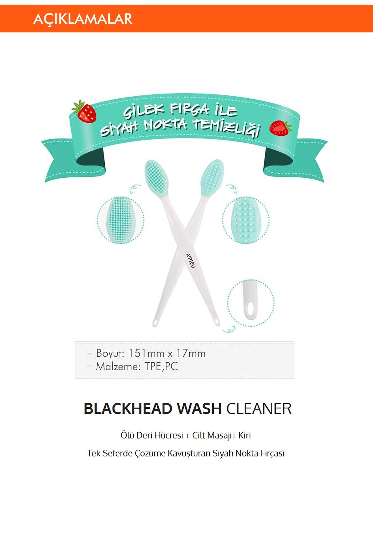 Missha Siyah Nokta Temizleme Fırçası APIEU Blackhead Wash Cleaner 1