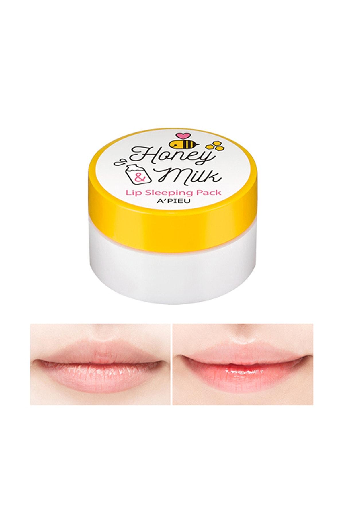 Missha Süt ve Ballı Nemlendirici Dudak Uyku Maskesi APIEU Honey & Milk Lip Sleeping Pack