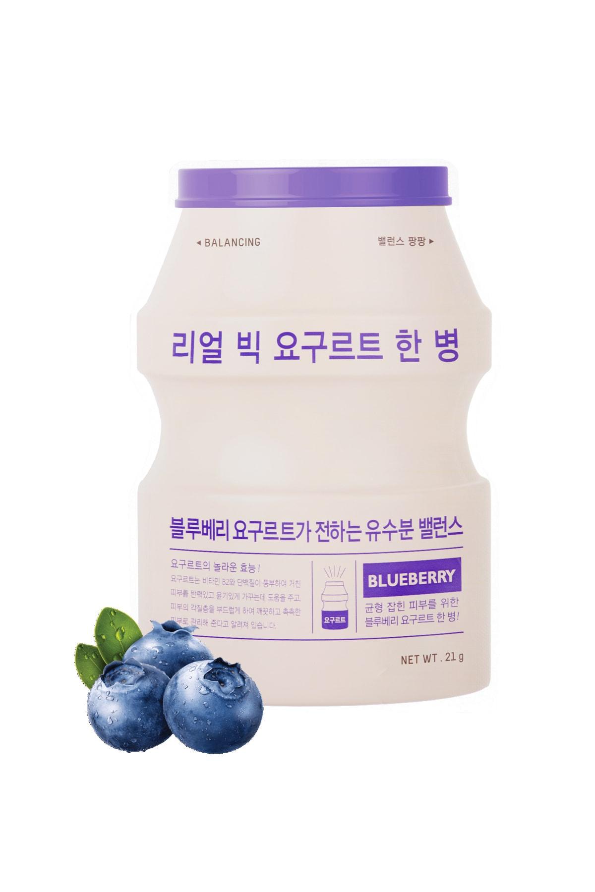 Missha Yağlanma Karşıtı Yoğurtlu Maske APIEU Real Big Yogurt One-Bottle (Blueberry)