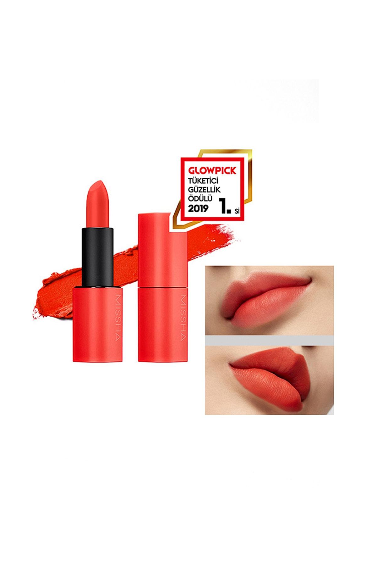 Missha Yoğun Pigmentli Besleyici Kadife Dokulu Mat Ruj Dare Rouge (Velvet/Living Orange)
