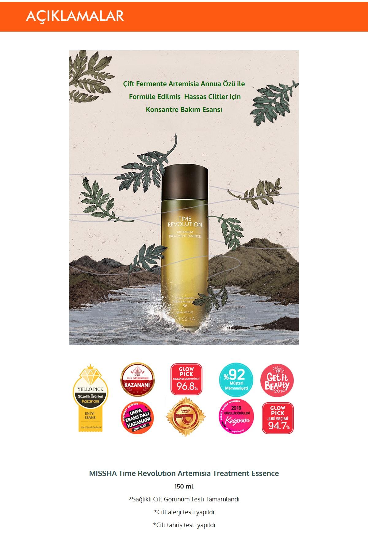 Missha Hassas Ciltler İçin Kızarıklık Karşıtı Esans 150ml Time Revolution Artemisia Treatment Essence