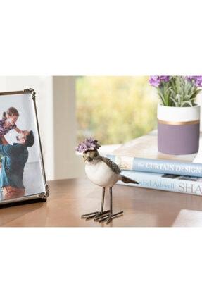 English Home Gri-lila Flower Bird Polyresin Biblo 11*4.2*11cm