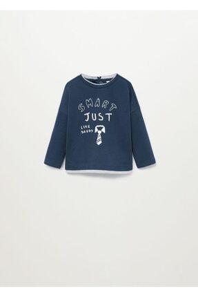 MANGO Baby Yazılı Organik Pamuklu Tişört