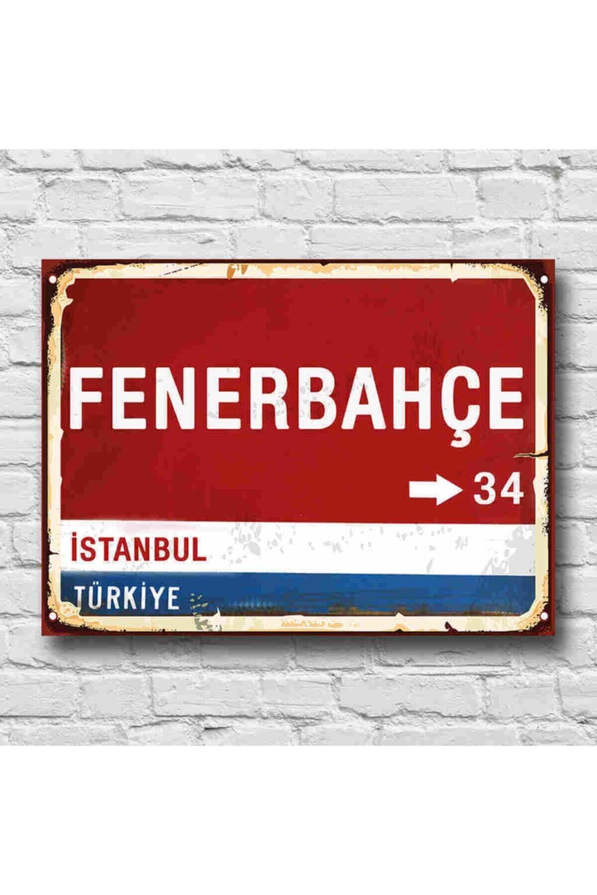 RETRO TABLO Fenerbahçe Yön Tabelası Retro Tablo 1