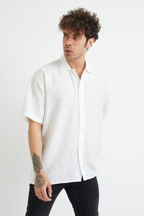 XHAN Erkek Beyaz Oversize Gömlek 1yxe2-44883-01