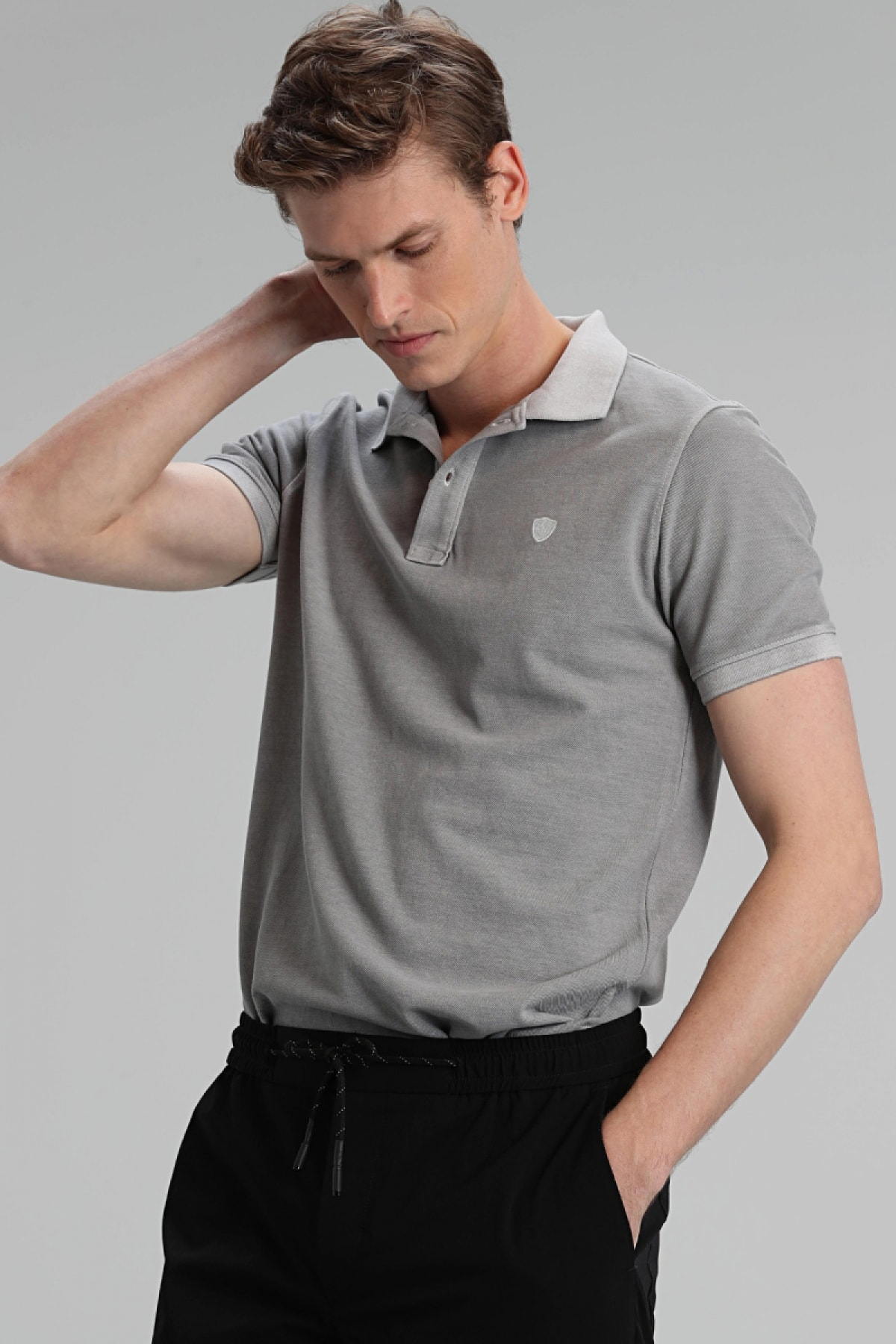 Lufian Vernon Spor Polo T- Shirt Gri