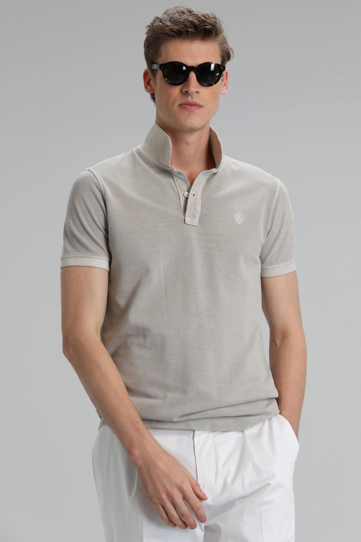 Lufian Erkek Ekru Vernon Spor Polo T- Shirt
