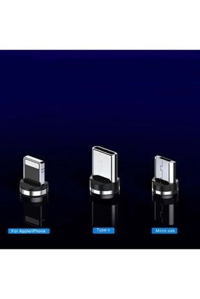 Shotex Samsung Galaxy A10 Cep Telefonu Uyumlu 3in1 Mıknatıslı Hızlı Şarj Kablosu Şarz Aleti Kablosu