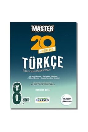 Okyanus Yayınları Master Türkçe 20 Deneme 8. Sınıf