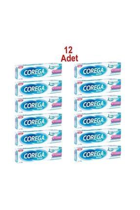 Corega Süper Tatsız Diş Protezi Yapıştırıcı Krem 40 gr 12 Adet Skt 12/2022