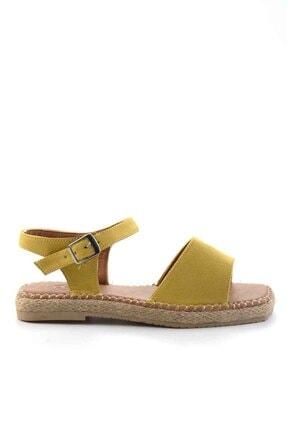 Bambi Kadın Sarı Süet Sandalet K056880012