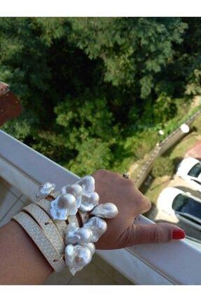 by inci kara Derili Büyük Gerçek Incili Barogue & Pearls Bileklik
