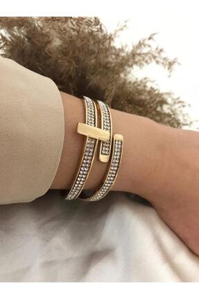 Yasem accessories Anneler Gününe Özel Vip Model Zirkon Taş Kol Kelepçe