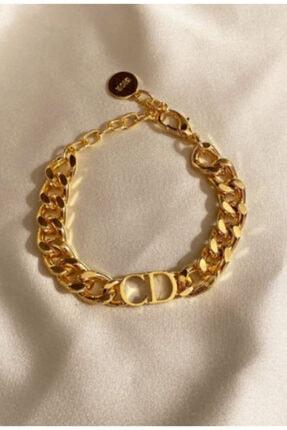 Newelry Cristian Dior Cd Logolu Çelik Bileklik