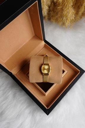 Ricardo Kadın Kol Saati Minimal Gold Hasır Çelik Kordon Kol Saati