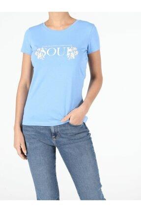Colin's Kadın Mavi Kısa Kol T-Shirt
