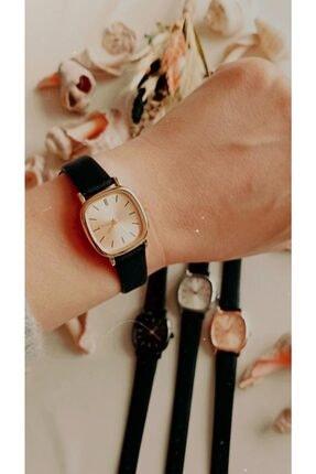 Ricardo 60 Dakika Saat & Retro Minimal Deri Kordon Kadın Kol Saati - Gold