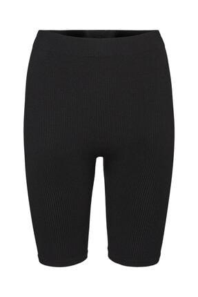 Vero Moda Kadın Siyah Ribli Şort Tayt 10252055 Vmeve