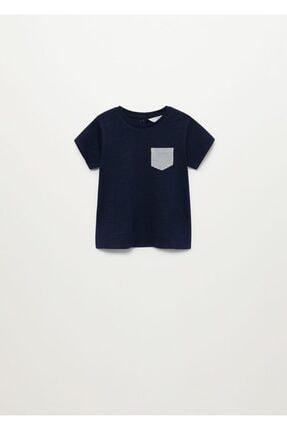 MANGO Baby Pamuklu Desenli Cepli Tişört
