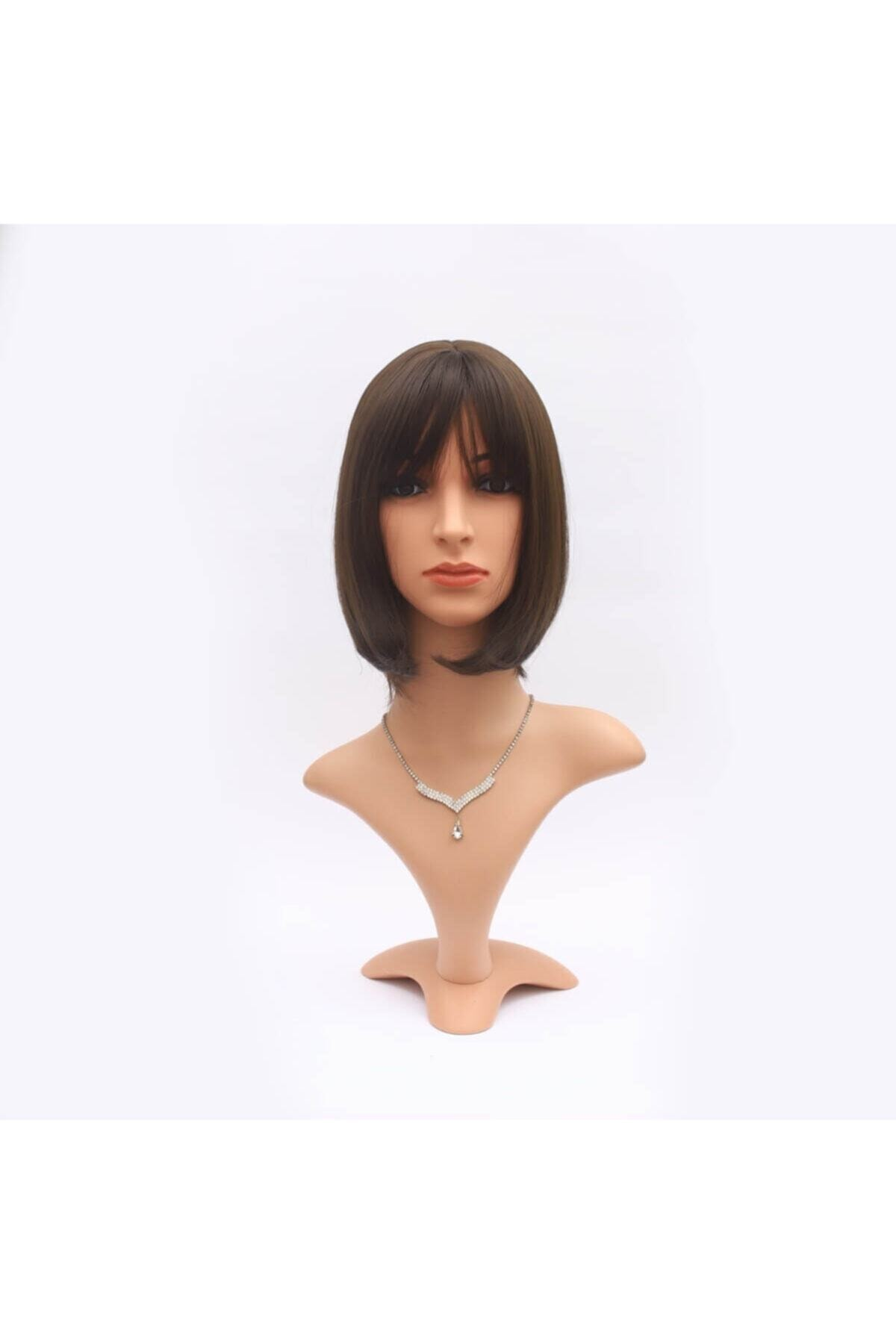 Saç Peruk Dünyası Sentetik Kısa Boy Peruk - Kahverengi 1