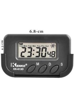 Kenko Kk613d Dijital Saat Küçük Masa Araba Saati Kronometre
