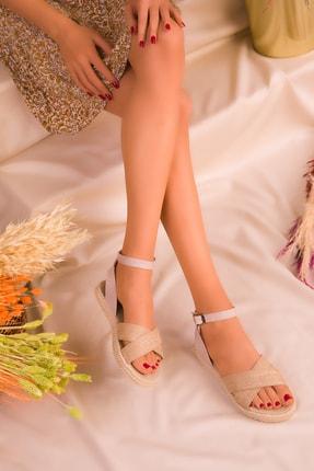 SOHO Hasır-Bej Kadın Sandalet 14663