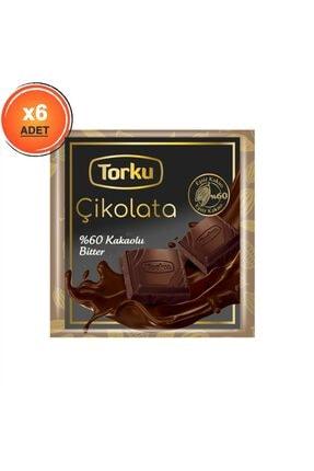 Torku Kare Bitter Çikolata 65 gr X6