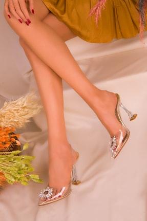 SOHO Altın Kadın Klasik Topuklu Ayakkabı 16222