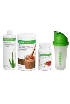 Herbalife Başlangıç Seti-1 ( 1 Çikolatalı Shake Şeftali 50 gr Çay Aloe Konsantre Içecek Shaker)