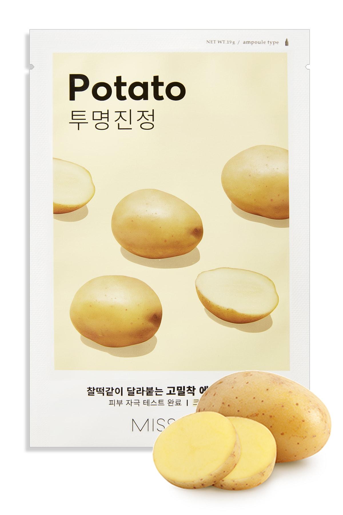 Missha Patatesli Aydınlatıcı Yaprak Maske (1ad) Airy Fit Sheet Mask Potato