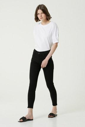 Network Kadın Basic Fit Siyah Normal Bel Pantolon 1079240