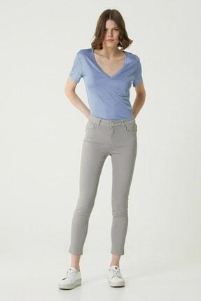Network Kadın Basic Fit Gri Normal Bel Pantolon 1079240
