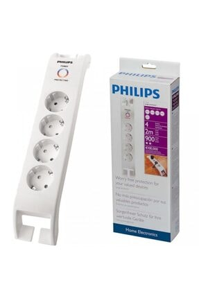 Philips Spn 3040c/10 4lü 2 m Beyaz Akım Korumalı Priz