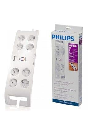 Philips Spn 3080b 8li 2 Metre Beyaz Akım Korumalı Priz
