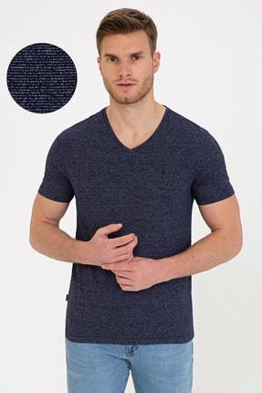 Pierre Cardin Lacivert Slim Fit V Yaka T-Shirt